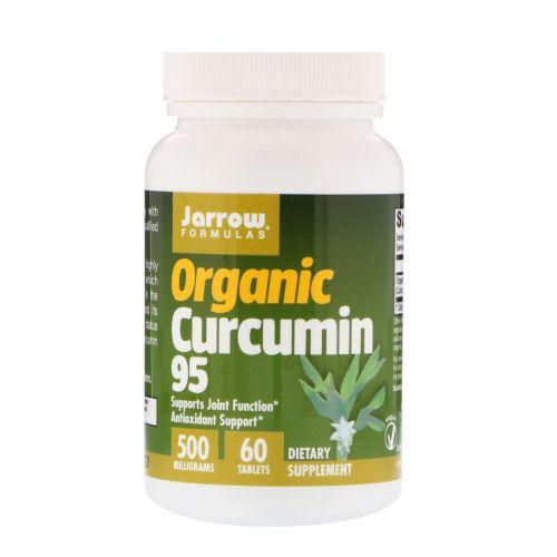 Jarrow Formulas, Органический куркумин 95, 500 мг, 60 таблеток