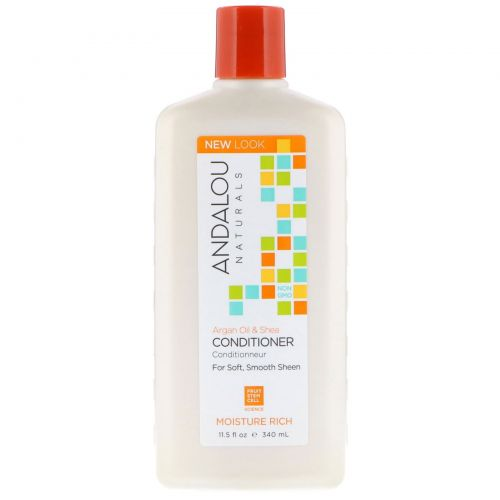 Andalou Naturals, Conditioner, Moisture Rich, Argan Oil & Shea, 11.5 fl oz (340 ml)