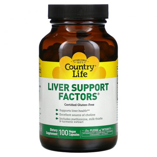 Country Life, Liver Support Factors, 100 Vegan Capsules