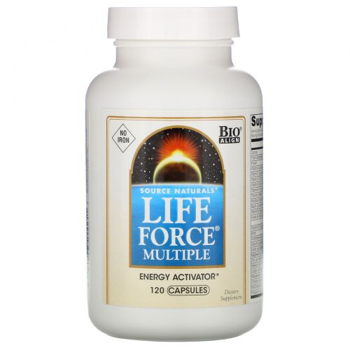 Source Naturals, Комплексная жизненная сила, не содержащая железа, 120 капсул