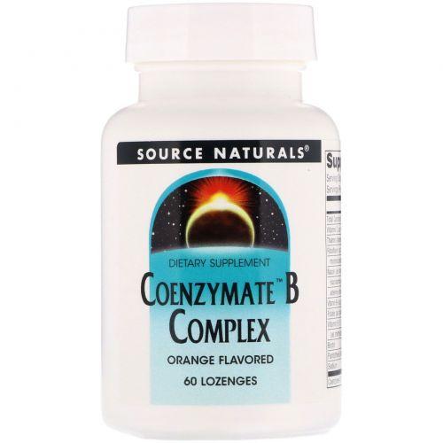 Source Naturals, Комплекс с коферментом B, таблетки под язык с апельсиновым вкусом, 60 таблеток