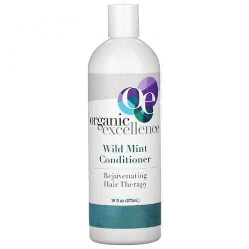 Organic Excellence, Кондиционер, восстанавливающая терапия для волос, с дикой мятой, 16 жидких унций (572 мл)