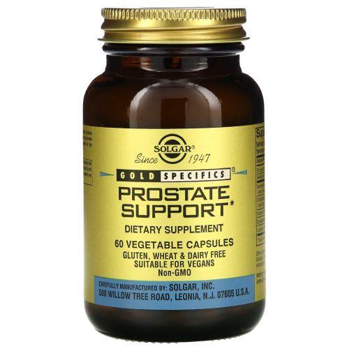 Solgar, Gold Specifics, Поддержка простаты 60 овощных капсул