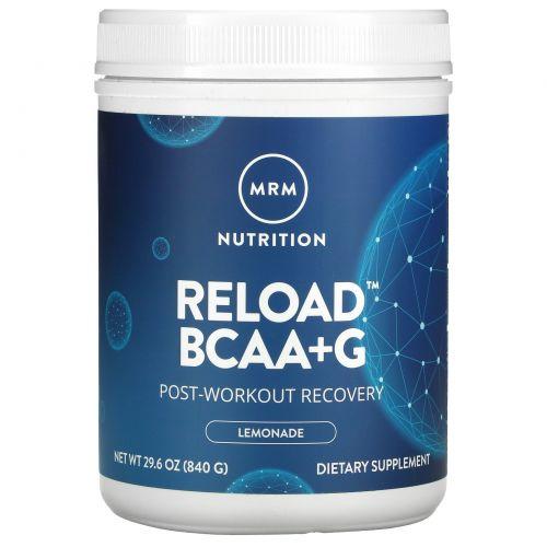 MRM, Reload, оптимизация восстановления мышц, со вкусом лимонада, 29.6 унций (840 г)