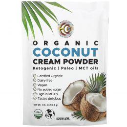 Earth Circle Organics, Органические сухие кокосовые сливки, 1 фунт (453,5 г)