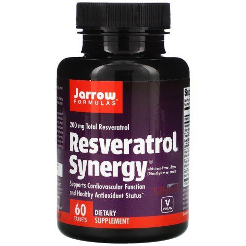 Jarrow Formulas, Ресвератрол совместного действия, 60 таблеток