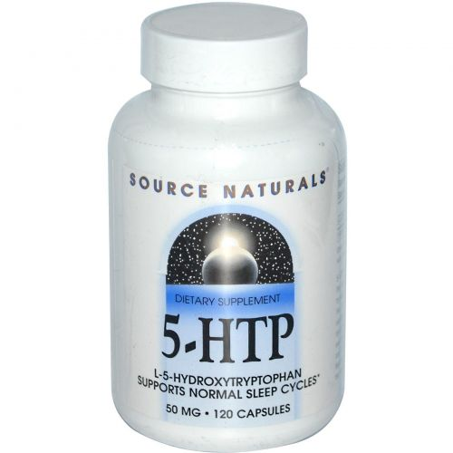 Source Naturals, 5-HTP, 50 мг, 120 капсул