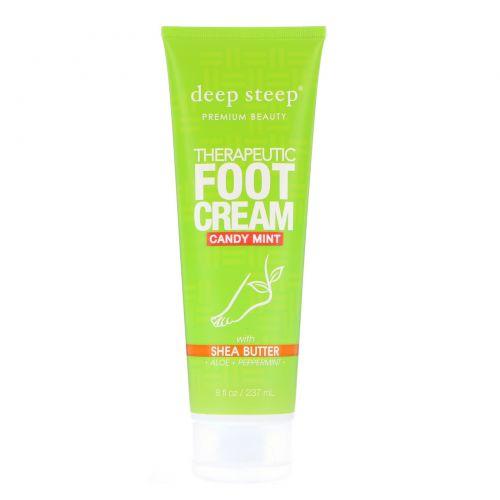Deep Steep, Крем для ног, с конфетно-мятным ароматом, 6 жидких унций (177 мл)
