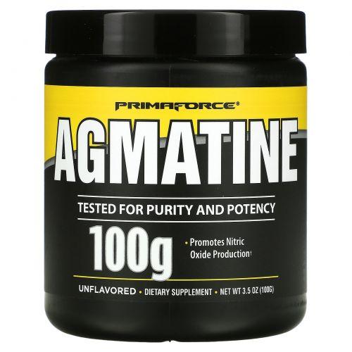 Primaforce, Агматин, без ароматизаторов, 100 г
