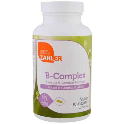 Zahler, B-комплекс, важные питательные вещества B-комплекса, 90 капсул