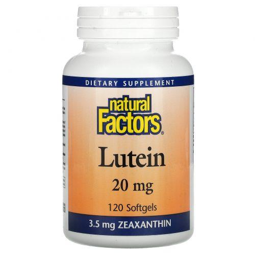 Natural Factors, Лютеин, 20 мг, 120 желатиновых капсул