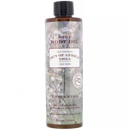Out of Africa, Unscented Shea Butter Body Oil, 9 fl oz (266 ml)