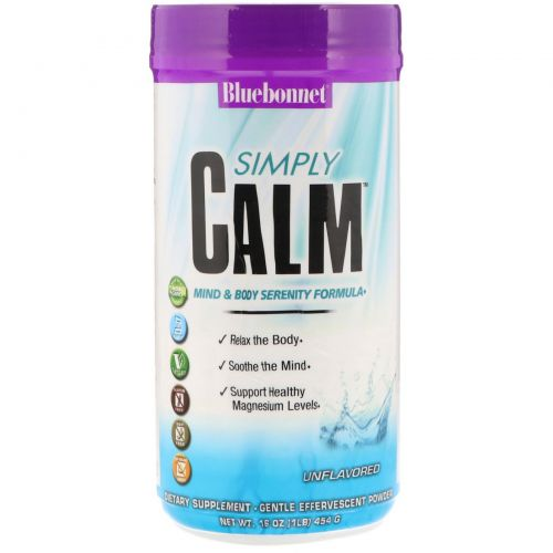 Bluebonnet Nutrition, Simply Calm, Unflavored, 16 oz (454 g)