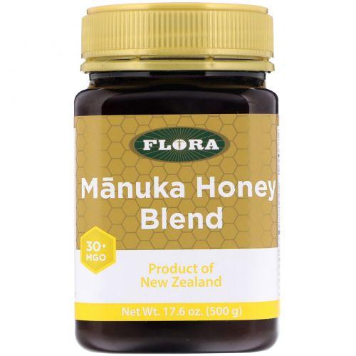 Flora, Смесь с медом манука, MGO 30+, 500г