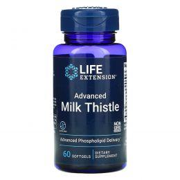 Life Extension, Европейский молочный чертополох, 60 желатиновых капсул
