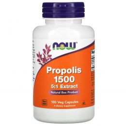 Now Foods, Прополис 1500, 100 капсул
