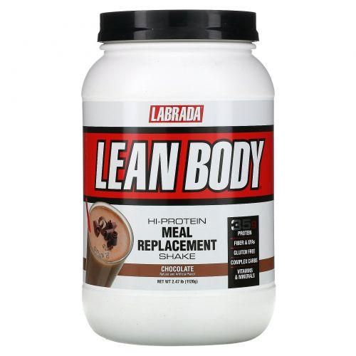 Labrada Nutrition, Lean Body, заменитель пищи, со вкусом шоколада, 2,47 фунта (1120 г)
