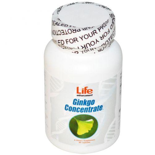 Life Enhancement, Гинкго концентрат, 90 капсул