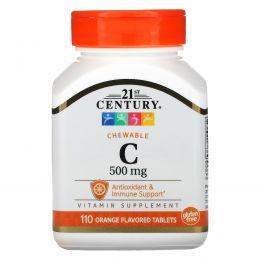 21st Century, Жевательный C-500, 110 таблеток