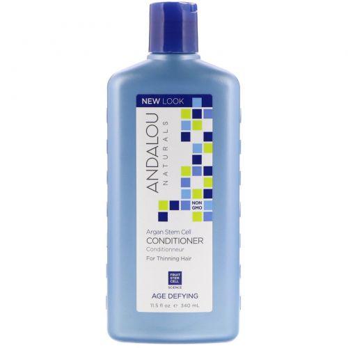 Andalou Naturals, Кондиционер, противовозрастной, для тонких волос, с аргановыми стволовыми клетками, 11,5 унций (340 мл)