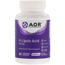 Advanced Orthomolecular Research AOR, R-липоевая кислота в высоких дозировках, 60 растительных капсул