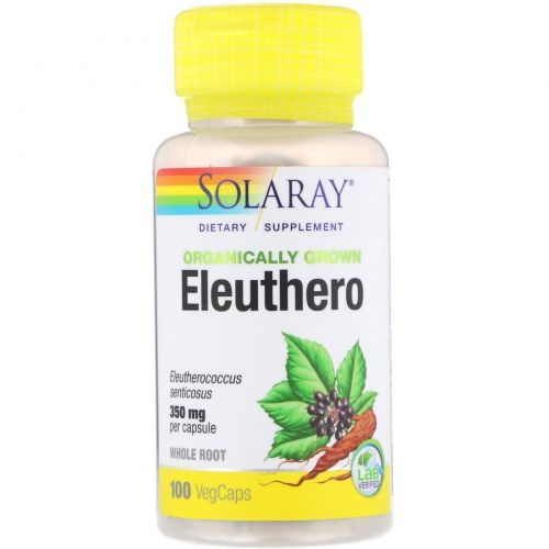 Solaray, Organically Grown Eleuthero, 350 mg, 100 VegCaps