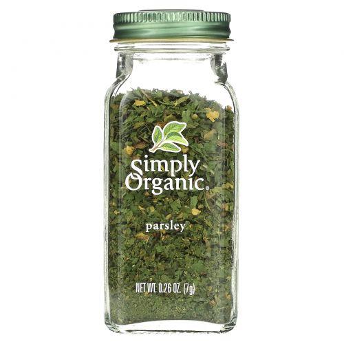 Simply Organic, Петрушка, 0,26 унции (7 г)