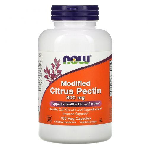 Now Foods, Модифицированный цитрусовый пектин, 800 мкг, 180 растительных капсул