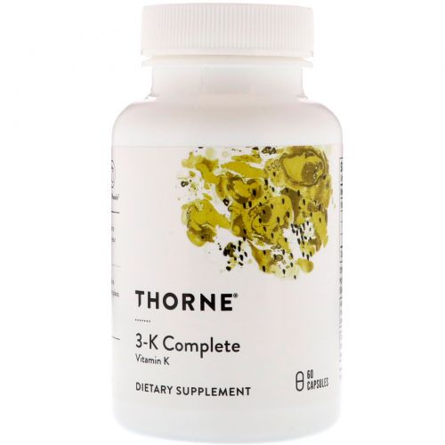 Thorne Research, 3-K Complete, 60 капсул