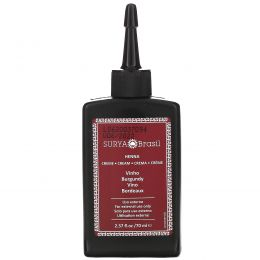 Surya Henna, Крем с хной, Окрашивание & кондиционирование волос, Бургунди, 2.37унции (70 мл)