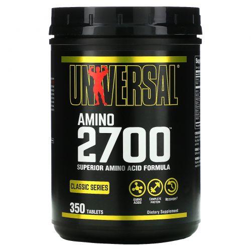 Universal Nutrition, Amino 2700, с добавка с аминокислотами с замедленным высвобождением, 350 таблеток