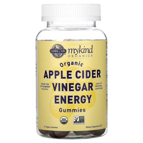 Garden of Life, Organic Apple Cider Vinegar Energy Gummies, 63 Vegan Gummies