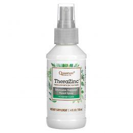 Quantum Health, Спрей «Тера цинк» с питательными веществами для укрепления иммунной системы с ароматом перечной мяты и гвоздики, 4 жидких унции (120 мл)