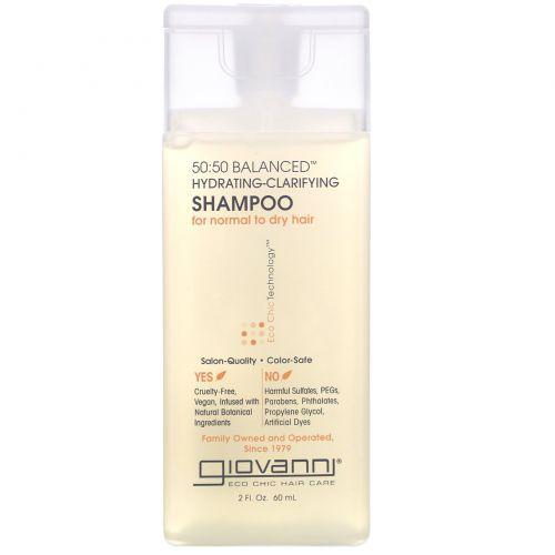 Giovanni, 50:50 Balanced Hydrating-Clarifying Shampoo, 2 fl oz (60 ml)
