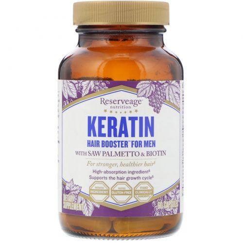 ReserveAge Nutrition, Keratin Booster для мужчин, 60 растительных капсул