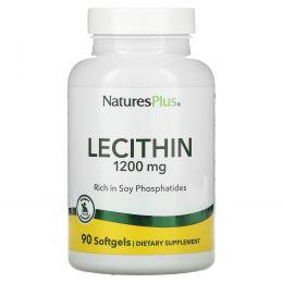 Nature's Plus, Лецитин, 1200 мг, 90 мягких капсул