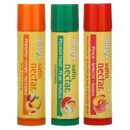 Blistex, Satin Nectar Lip Moisturizer, Variety Pack , 3 Pack, 0.15 oz (4.25 g) Each