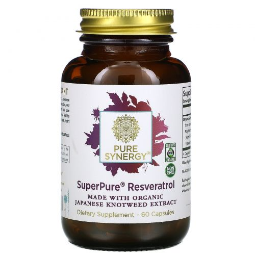 The Synergy Company, Pure Synergy, Organic Super Pure Resveratrol Organic Extract, 60 Organic Veggie Caps