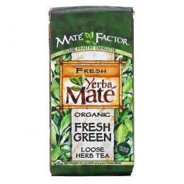 Mate Factor, Органический Йерба Мате, Свежий зеленый листовой травяной чай, 12унций (340г)