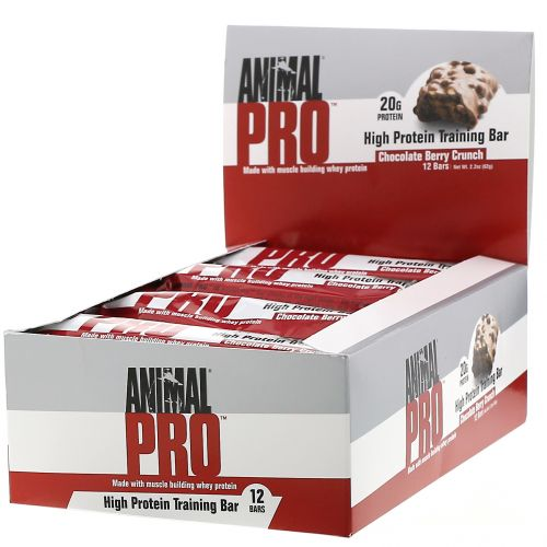 Universal Nutrition, Animal Pro, High Protein Training Bar, Chocolate Berry Crunch, 12 Bars, 2.2 oz (62 g)