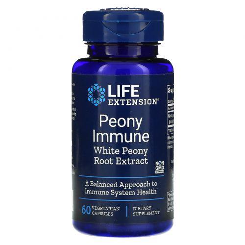 Life Extension, Peony Immune, 60 растительных капсул