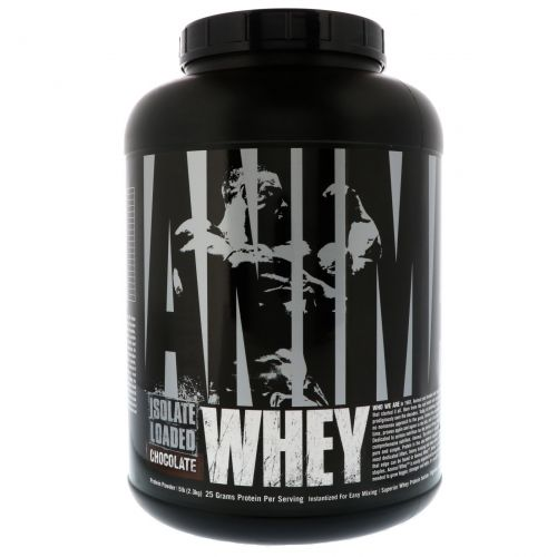 Universal Nutrition, Animal Whey Isolate Loaded, Chocolate, 5 lb (2.3 kg)