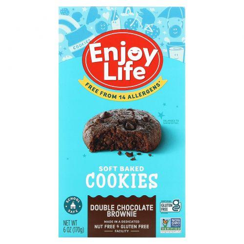 Enjoy Life Foods, Мягкие печенья, вдвое больше шоколада, 6 унций (170 г)