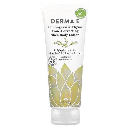 Derma E, Restoring Shea Body Lotion, Lemongrass & Thyme, 8 oz (227 g)