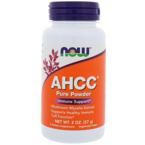 Now Foods, AHCC, чистый порошок, 2 унц. (57 г)