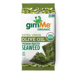 gimMe, Premium Roasted Seaweed, Extra Virgin Olive Oil, 0.35 oz (10 g)