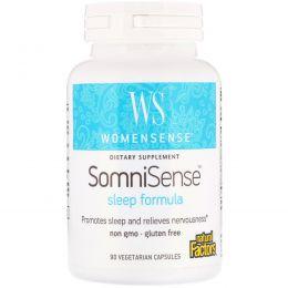 Natural Factors, WomenSense, SomniSense, Sleep Formula, 90 Vegetarian Capsules