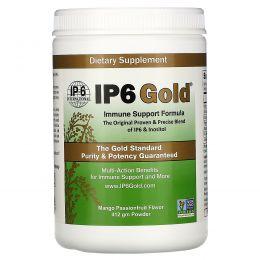 IP-6 International, IP6 Gold, Формула для поддержки иммунитета, Вкус тропических фруктов, Порошок, 414 г