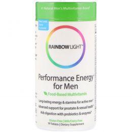 Rainbow Light, Performance Energy для мужчин, пищевые мультивитамины, 90 таблеток