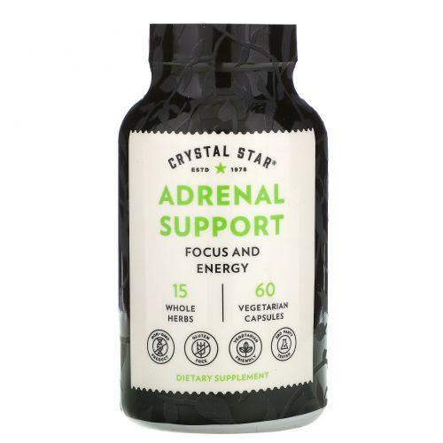 Crystal Star, Энергия Адреналина, 60 растительных капсул